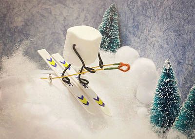 Sugar Hill Skier Poster by Heather Applegate