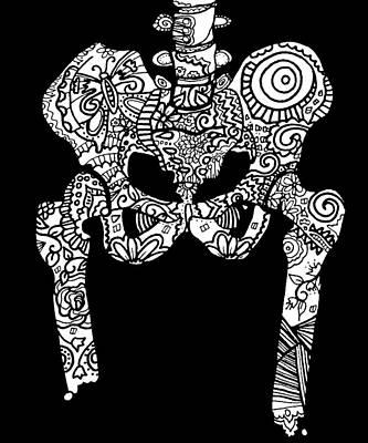 Sugar Skull Hips Poster