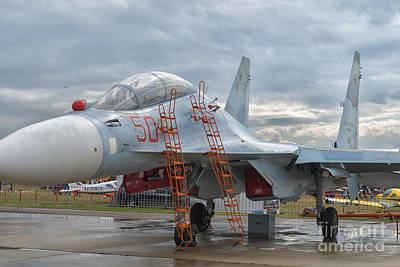 Sukhoi Su-30m2 Flanker-c At Maks Air Show In Moscow, Russia Poster by Ivan Batinic