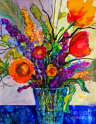 Poster featuring the painting Summer Arrangement by Priti Lathia