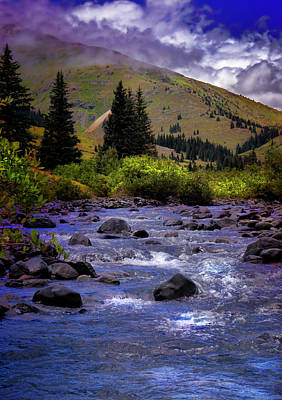Poster featuring the photograph Summer At The Animas River by Ellen Heaverlo