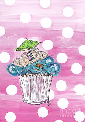 Summer Bear Cuppy Cake Poster by Cheryl Seagraves