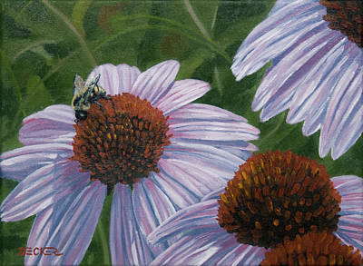 Poster featuring the painting Summer Bees I by Robert Decker