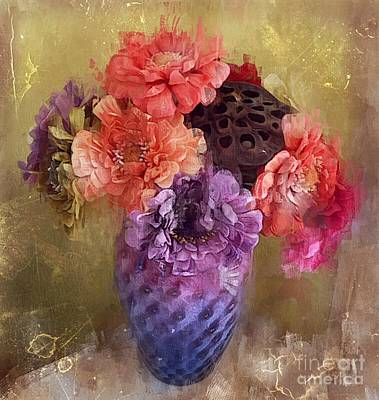 Poster featuring the digital art Summer Bouquet by Alexis Rotella