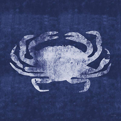 Summer Crab- Art By Linda Woods Poster by Linda Woods