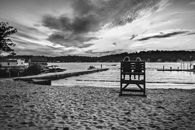 Summer Days Black And White Version Poster by Eduard Moldoveanu