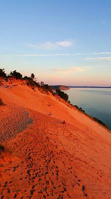 Summer Evening At Sleeping Bear Dunes Poster by William Slider