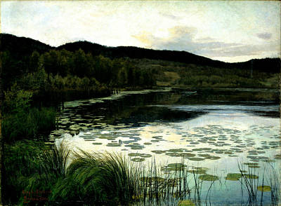 Summer Evening Poster by Kitty Lange Kielland
