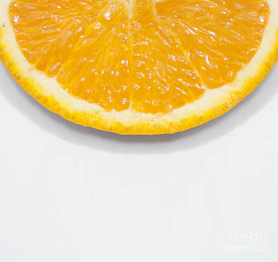 Summer Fruit Orange Slice On Studio Copyspace Poster