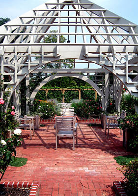 Summer Gazebo Of Franklin Park Conservatory Poster by Mindy Newman