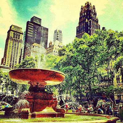Summer In Bryant Park Poster by Luke Kingma