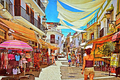 Poster featuring the photograph Summer In Malaga by Mary Machare