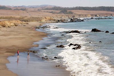Poster featuring the photograph Summer In San Simeon by Art Block Collections