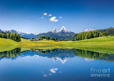 Summer In The Alps Poster by JR Photography