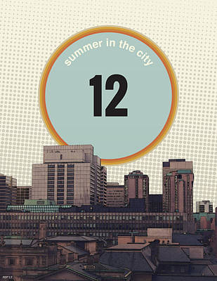 Poster featuring the photograph Summer In The City by Phil Perkins