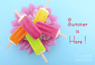 Summer Is Here Cold Candy Poster by Milleflore Images