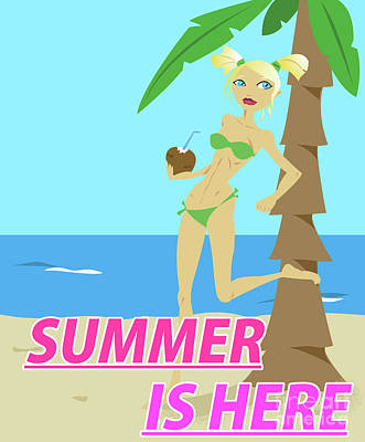 Summer Is Here Poster by Harold Rodriguez