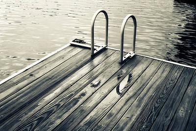 Summer Lake Swim Poster