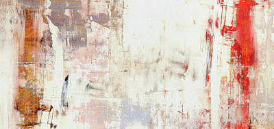 Summer Morning Mist - White Warm Abstract Painting Poster by Modern Art Prints