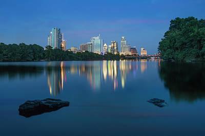 Summer Night In Austin, Texas 2 Poster by Rob Greebon