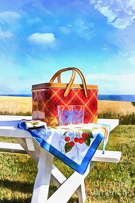 Summer Picnic Acrylic Poster by Edward Fielding