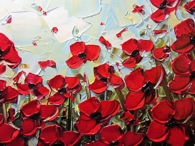 Summer Red Poppies Poster by Christine Krainock