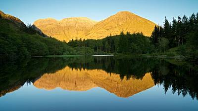 Summer Reflections In Glencoe Poster by Stephen Taylor