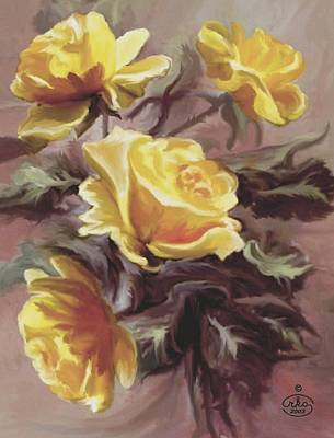 Summer Roses Poster by Ron Chambers