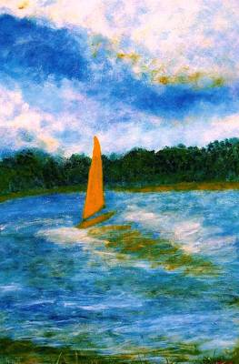 Poster featuring the painting Summer Sailing by John Scates