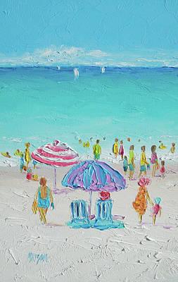 Summer Scene Diptych 1 Poster