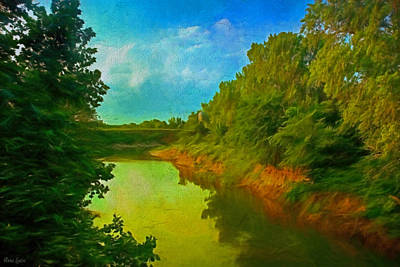 Summer Soft Morning Creek Poster
