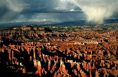 Summer Storm At Bryce Canyon National Park Poster