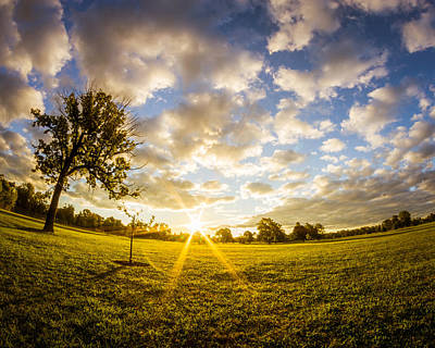 Poster featuring the photograph Summer Sunrise Across Delware Park Meadow by Chris Bordeleau