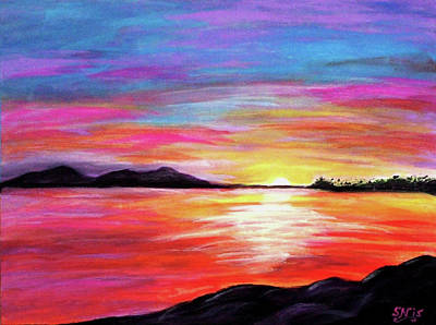 Poster featuring the painting Summer Sunrise by Sonya Nancy Capling-Bacle