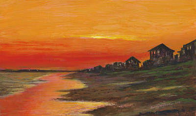 Summer Sunset At  Crystal Beach Poster