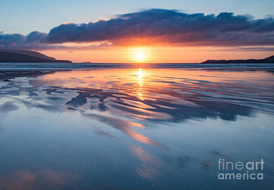 Summer Sunset Over Balnakeil Bay Poster by Janet Burdon