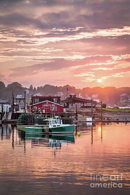 Summer Sunset Over Cook's Lobster Poster