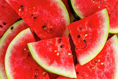Summer Watermelon Poster by Teri Virbickis