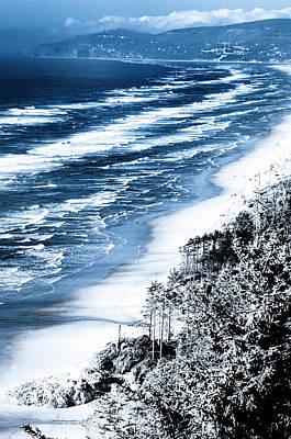 Summer Waves Cape Lookout Oregon Coast Poster