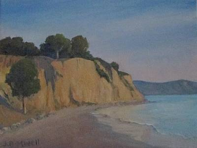 Poster featuring the painting Summerland Beach Study by Jennifer Boswell
