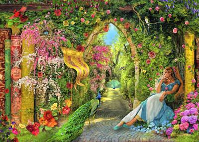 Summers Garden Poster