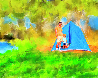 Summers On Open Pond - Alabama Landscape Poster by Mark Tisdale