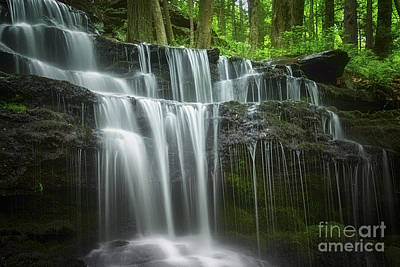 Summertime At Gunn Brook Falls Poster