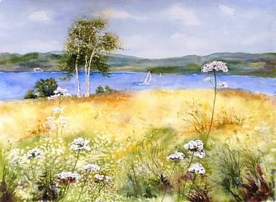 Summertime Birches Poster
