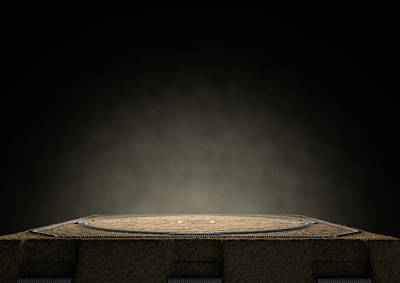 Sumo Ring Empty Poster by Allan Swart