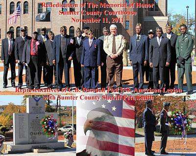Poster featuring the photograph Sumter County Memorial Of Honor by Jerry Battle