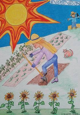 Sun And Garden Poster