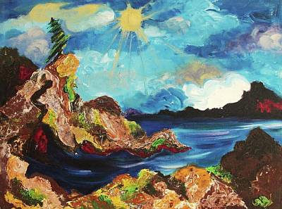 Sun And Rocks Poster by Suzanne  Marie Leclair