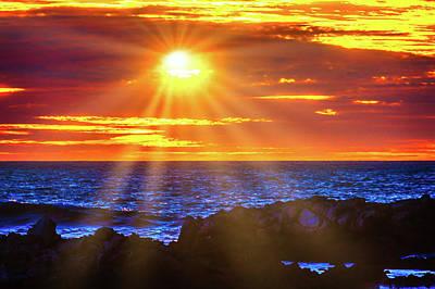 Sun Bursting Through The Clouds Poster