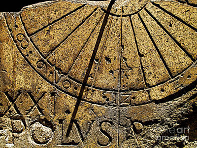 Sun Dial Poster by Mexicolors Art Photography